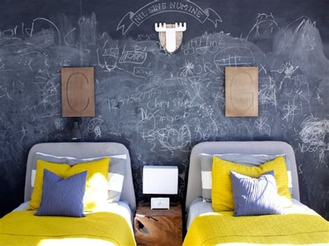 Black And Grey Bedroom How To Add A Chalkboard Wall To Your Kid S Room