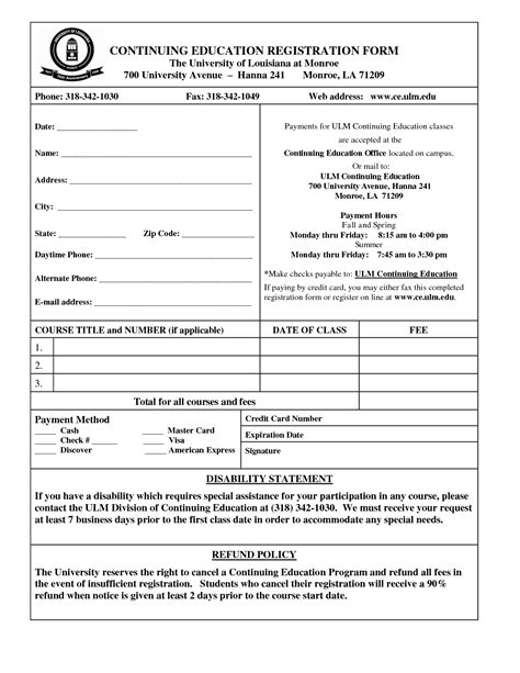 School Registration Form Template Word 2 Popular Sles Templates Sports C Registration Form Template