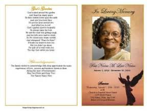 Memorial Program Samples Funeral Program Template Beloved Angel Graduated Fold
