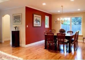 Dining Room Accent Colors Painting Small Dining Room With Merlot Accent Wall