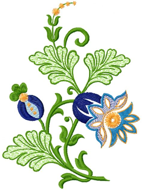fantastic flower free machine embroidery design