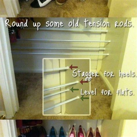 Tension Rod Shoe Rack by Diy Shoe Rack Diy