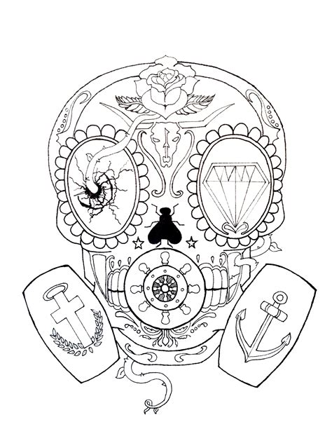 skull mask tattoo designs calavera gas mask skull by greg loizou this started as a