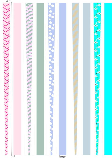 Printable Paper Jewelry | paper bead templates for making paper beads 5 pages