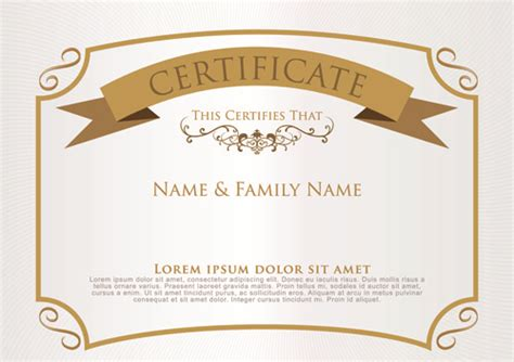 design certificate vector certificate design templates free vector download 13 031