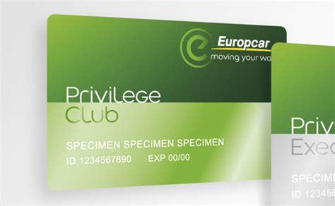 privilege card template brandimage designs new loyalty cards for europcar logo