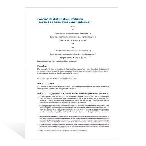 Modèle Contrat De Vente mod 232 le de contrat de vente exclusive
