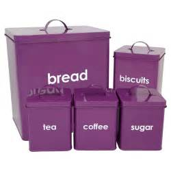 Purple Canister Set Kitchen Wilko Kitchen Storage Set Purple 5 Piece At Wilko Com
