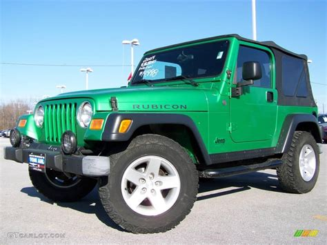 jeep wrangler green 2004 electric lime green pearl jeep wrangler rubicon 4x4