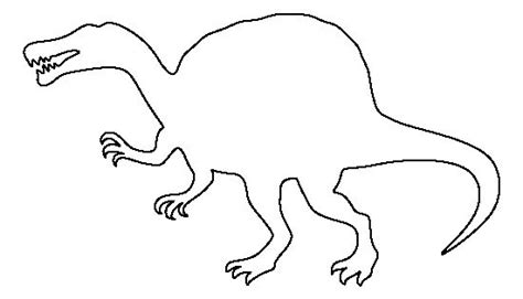 spinosaurus pattern   printable outline  crafts