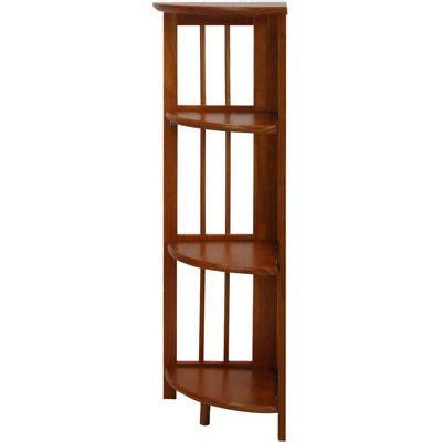 folding 4 shelf corner bookcase jcpenney