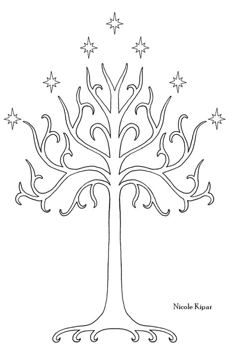 white tree of gondor tattoo tree of gondor stencil crafting things to make just for