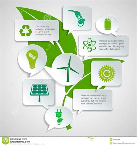 green biz trends for earth month infographic industry ecology and energy paper bubbles infographic stock vector