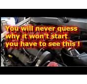 Engine Cranks But Wont Start  YouTube