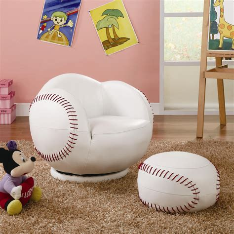 baseball chair and ottoman kids sports chairs small kids baseball chair and ottoman