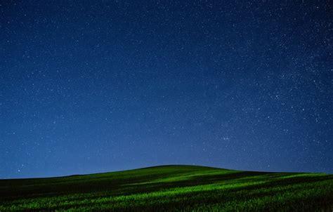 wallpaper field  sky grass stars night hill images