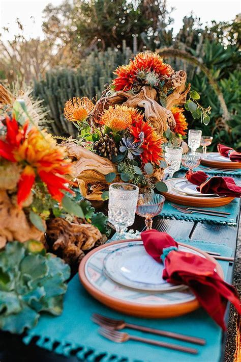 Rich Colors for an Outdoor Desert Wedding for the