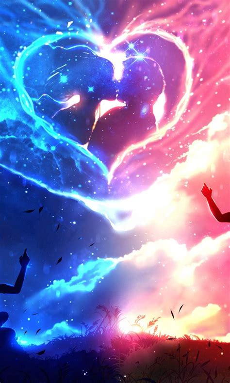 couple anime love wallpaper  desktop mobile