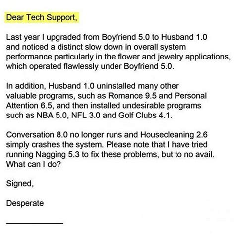Support Letter To My Boyfriend tech support offers relationship tips emails