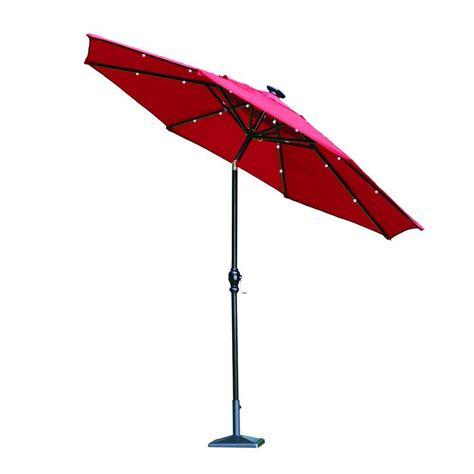 Hampton Bay 9 ft. Round Aluminum Solar Patio Umbrella in