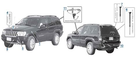 wj grand cherokee body parts 4 wheel parts