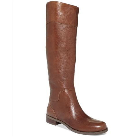 nine west boots nine west counter zipback widecalf boots in brown