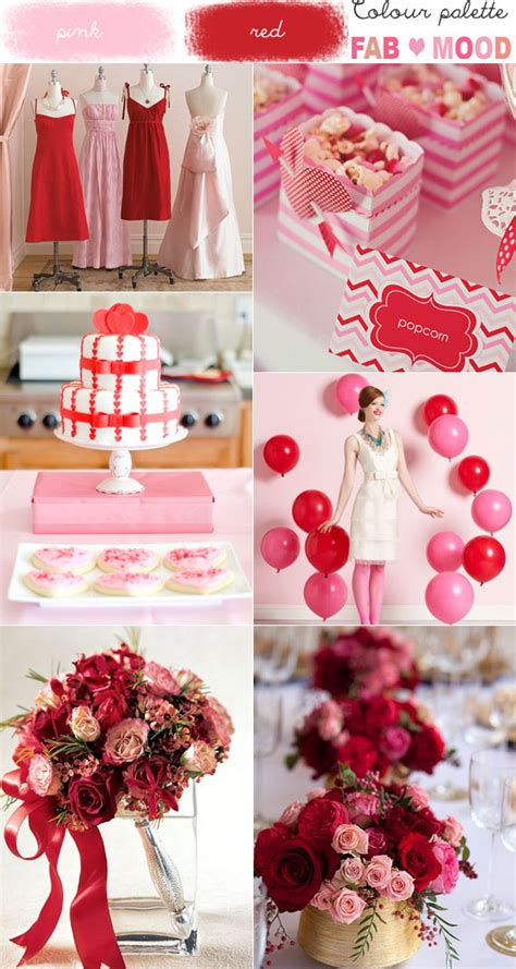 colour themes with red pink red wedding colour mood board 1 fab mood