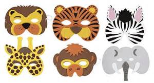 jungle animal mask templates assorted soft jungle animal mask each