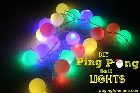 how to make adorable christmas lights using ping pong balls