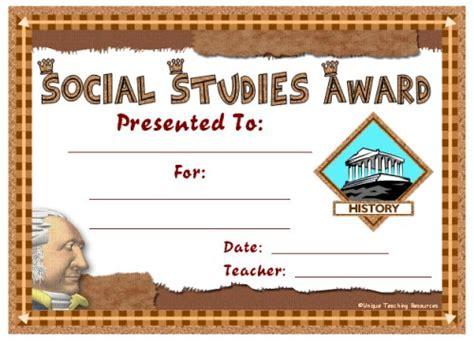 templates for studies social studies award certificates