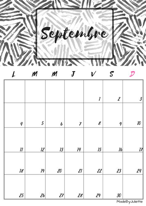 Calendrier Septembre 2016 Septembre 2017 Calendrier Septembre 2017 Imprimes Le Calendrier Pour