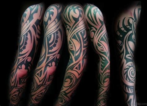 tribal tattoos full sleeve 70 fabulous tribal tattoos on sleeve