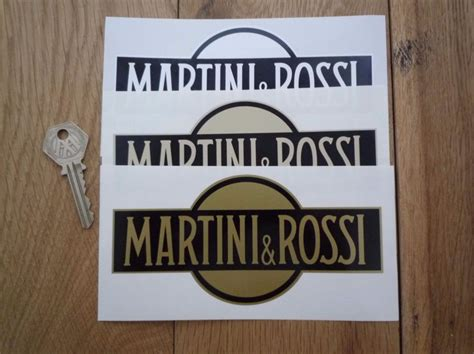 martini and rossi logo martini rossi logo stickers 6 quot pair