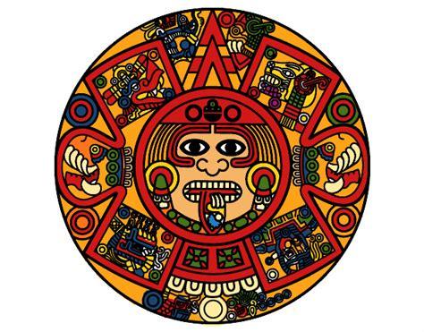 Calendario Azteca Para Colorear Calendario Azteca Dibujo Imagui