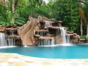 pools with waterfalls swimming pool cave and waterfall slide platinum pools