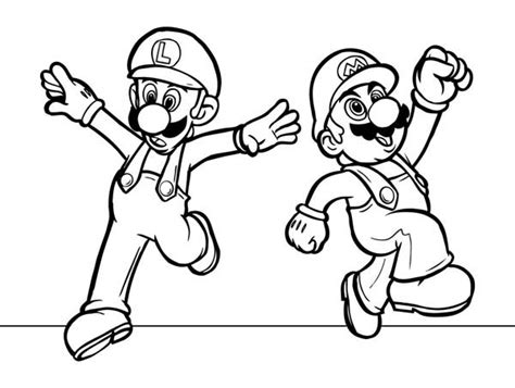 Mario And Luigi Coloring Pages Mario Brothers Super Mario Brothers All Characters by Mario And Luigi Coloring Pages