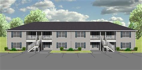 One Story House Designs by 8 Unit Apartment Plan J778 8