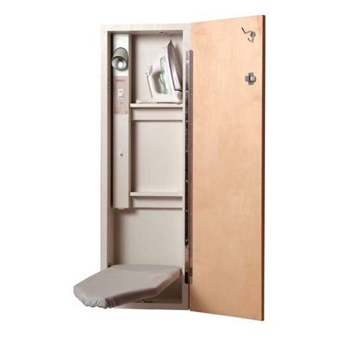 Ironing Board Storage Cabinet with Electrical Built In Ironing Board Cabinet Organization