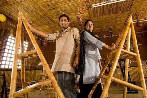bend   bamboo meet  hyderabad couple building