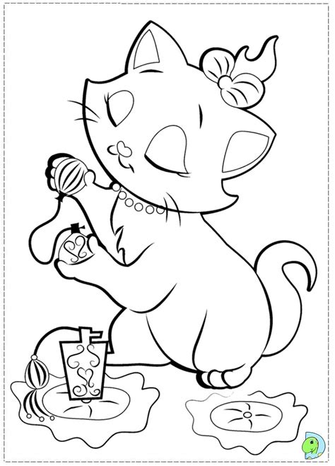 marie colouring pages
