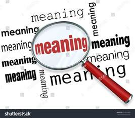 meaning word a magnifying glass to illustrate