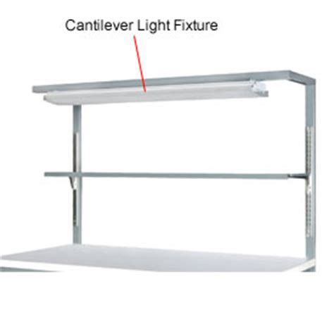 Workbench Lighting Fixtures Work Bench Systems Adjustable Height Cantilever Light Fixture With Shelf 72 Quot 249370