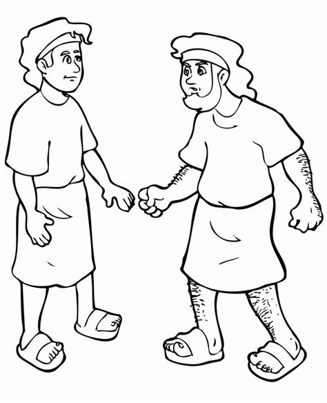 jacob and esau twins coloring page free coloring pages jacob and esau coloring home