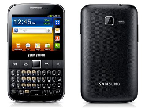 Hp Samsung Qwerty Dual Sim nowy dual sim na rynku samsung galaxy y pro duoz z klawiatur艱 qwerty wp tech