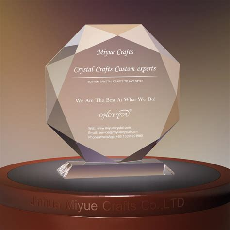 Oval Office Clock Crystal Trophy Crystal Awards Glass Awards Glass Trophy
