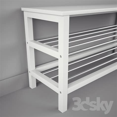 3d models other ikea chusig tjusig bench and shelf