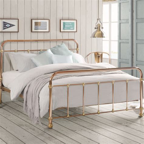copper bed frame copper and brass vintage style bed by i love retro