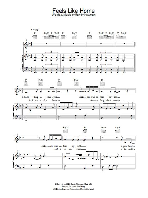 feels like home sheet for voice piano or guitar by
