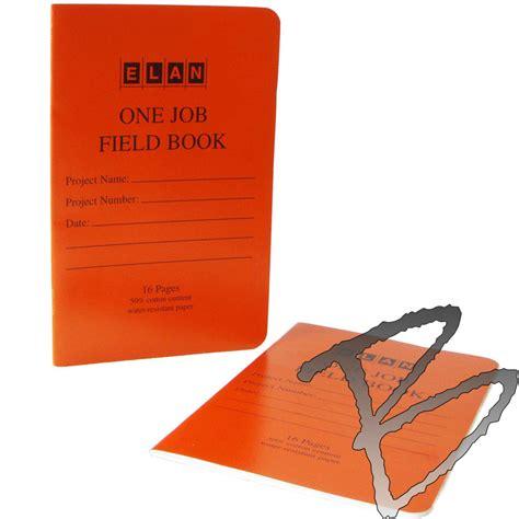survey field book template elan field books one engineering surveyor supplies