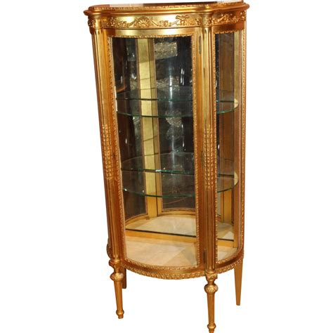 Paine Furniture Company giltwood style curio cabinet by paine furniture